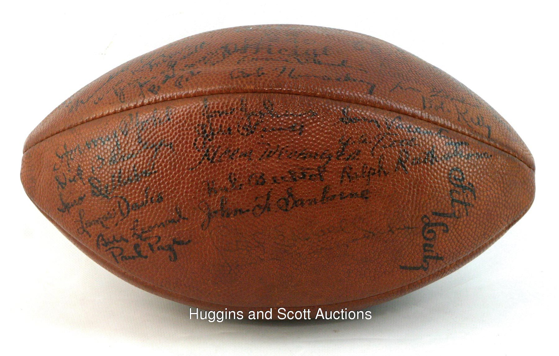 295b2d3a1b3 1949 Baltimore Colts Team-Signed AAFC Football with (34) Autographs ...
